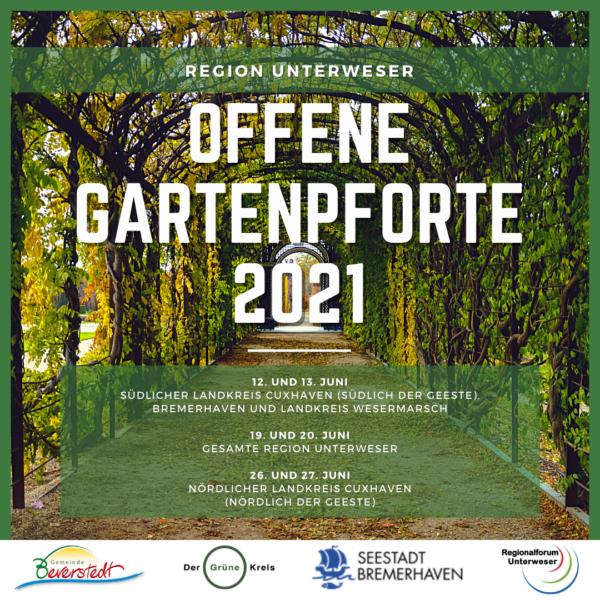 Flyer Offene Gartenpforte 2021